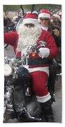 Christmas Toys For Tots Santa On Motorcycle Casa Grande Arizona 2004 Beach Towel