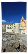 church in Camogli Beach Towel
