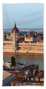 City Of Budapest Cityscape Beach Sheet