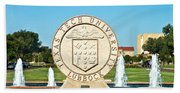 Classical Image Of The Texas Tech University Seal  Beach Towel