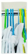 Clothes Hangers Beach Towel by Tom Gowanlock