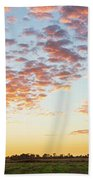 Clouds Over Landscape At Sunset Beach Towel
