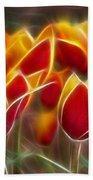 Cluisiana Tulips Fractal Beach Towel