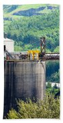 Coal Mine Electrical Energy Power Plant In Nature Beach Towel