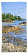Coast Of Pacific Ocean On Vancouver Island Beach Sheet