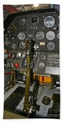 Cockpit Of A P-40e Warhawk Beach Towel