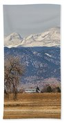 Colorado Front Range Continental Divide Panorama Beach Towel