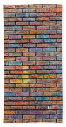 Colorful Brick Wall Texture Beach Towel