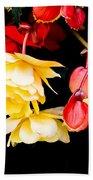 Colorful Flowers Beach Towel by Tom Gowanlock
