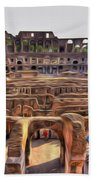 Colosseum In Rome Beach Towel