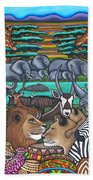 Colours Of Africa Beach Towel