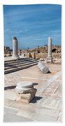 Columns In Archaeological Site Beach Towel
