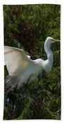 Common Egret Beach Towel