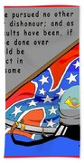 Confederate States Of America Robert E Lee Beach Towel