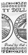 Continental Banknote, 1776 Beach Towel