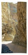 Contrasting Canyon Colors In Big Painted Canyon Trail In Mecca Hills-ca Beach Towel