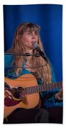 Country Blues Singer Rory Block In Concert Beach Towel