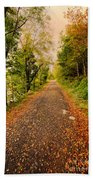Country Lane Beach Towel by Adrian Evans