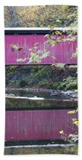 Covered Bridge Along The Wissahickon Creek Beach Towel