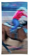 Cowgirl Rides Fast For Best Time Beach Sheet