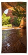 Coyote Natural Bridge - Coyote Gulch - Utah Beach Towel by Gary Whitton