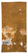 Cracked Stucco - Grunge Background Beach Towel