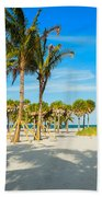 Crandon Park Beach Beach Towel