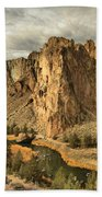 Crooked River Bend Beach Towel