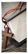 Cross And Bible Beach Towel