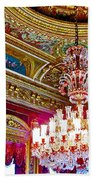 Crystal Chandelier In Dolmabache Palace In Istanbul-turkey  Beach Towel