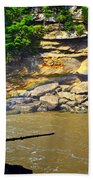 Cumberland Falls Rainbow Beach Towel by Frozen in Time Fine Art Photography