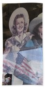 Dale Evans Roy Rogers Cardboard Cut-outs Flag Reflection Helldorado Days Tombstone 2004 Beach Towel