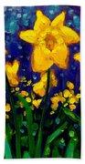 Dancing Daffodils Cropped  Beach Towel