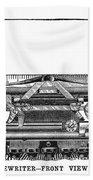 Daugherty Typewriter, 1895 Beach Towel