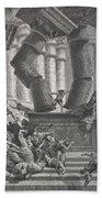 Death Of Samson Beach Towel by Gustave Dore