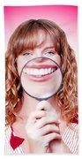 Dentist Showing White Teeth In A Dental Checkup Beach Sheet