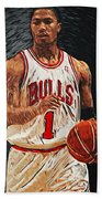 Derrick Rose Beach Towel