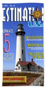 Destinations Usa Faux Magazine Cover Beach Towel