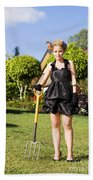 Do It Yourself Gardening Lady Beach Towel