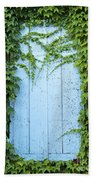 Door Framed By Plants Beach Towel