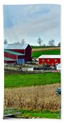 Down On The Farm Beach Towel by Frozen in Time Fine Art Photography