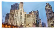 Downtown Chicago View Beach Towel