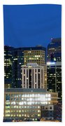Downtown Denver At Dusk Beach Towel