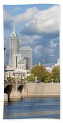 Downtown Indianapolis Indiana Beach Towel