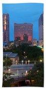 Downtown San Antonio Texas Skyline Beach Towel