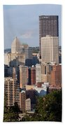 Downtown Skyline Of Pittsburgh Pennsylvania Beach Sheet