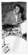 Drummer Gene Krupa Beach Towel