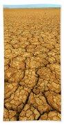 Dry Cracked Earth Beach Towel