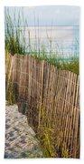 Dune Fence On Beach  Beach Towel