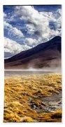Dusty Desert Road Bolivia Beach Towel